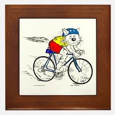 Bicycle Cat Framed Tile