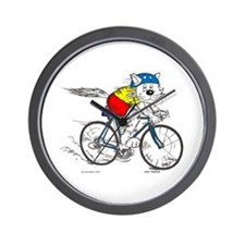 Bicycle Cat Wall Clock