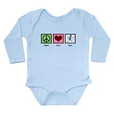 Peace Love Run Long Sleeve Infant Bodysuit