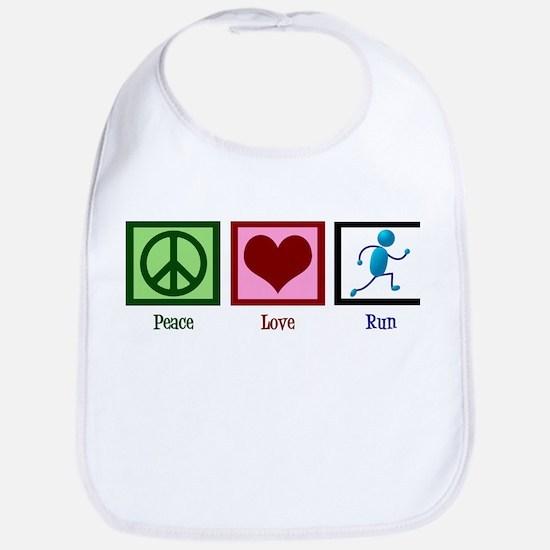 Peace Love Run Bib