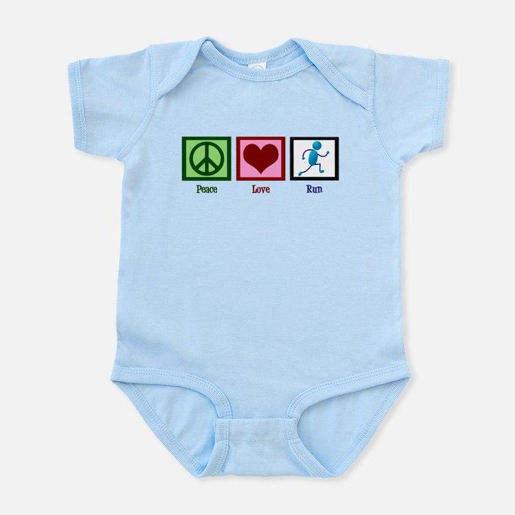 Peace Love Run Infant Bodysuit