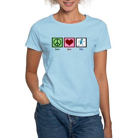 Peace Love Run Women's Light T-Shirt