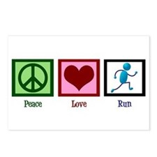 Peace Love Run Postcards (Package of 8)