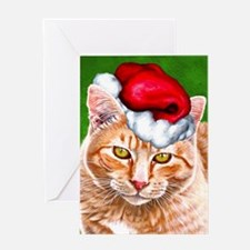 Meowy Christmas Tabby Greeting Card