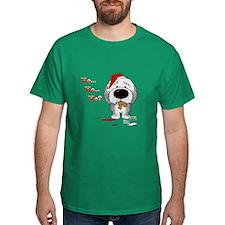Sheepdog Santa's Cookies T-Shirt