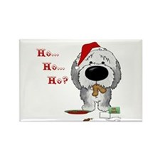 Sheepdog Santa's Cookies Rectangle Magnet (10 pack
