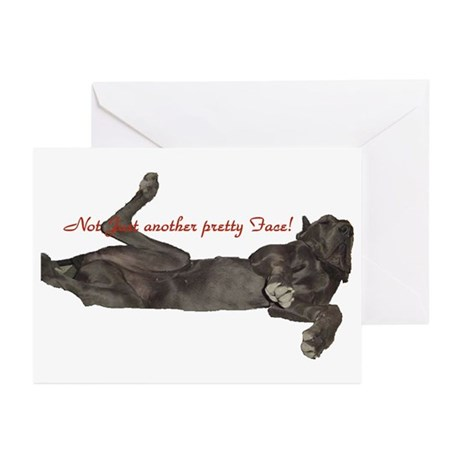 Blue Great Dane, Lazy Dane Greeting Cards (Package