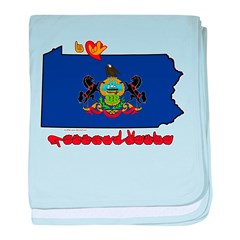 ILY Pennsylvania baby blanket