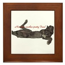 Blue Great Dane, Lazy Dane Framed Tile