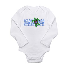 ILY Hawaii Turtle Long Sleeve Infant Bodysuit