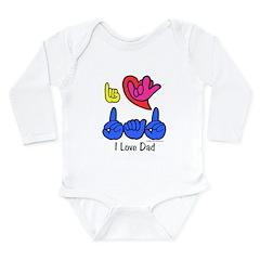 I-L-Y Dad Long Sleeve Infant Bodysuit
