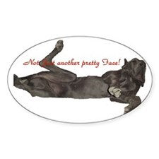 Blue Great Dane, Lazy Dane Oval Decal