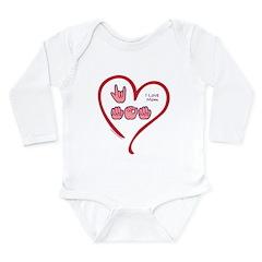 I Love Mom Long Sleeve Infant Bodysuit