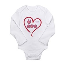 I Love Mom Long Sleeve Infant Bodysuit