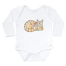 OrangeTabby ASL Kitty Long Sleeve Infant Bodysuit