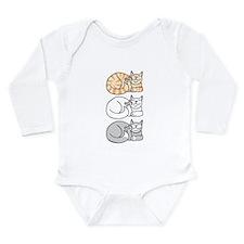 3 ASL Kitties Long Sleeve Infant Bodysuit
