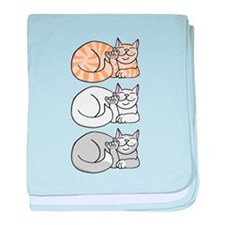 3 ASL Kitties Infant Blanket