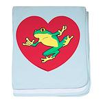 ASL Frog in Heart Infant Blanket