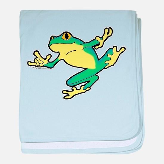 ASL Frog in Flight Infant Blanket