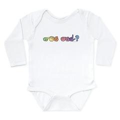 Got ASL? Pastel Long Sleeve Infant Bodysuit
