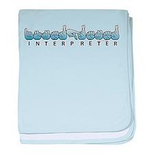 Interpreter Blue baby blanket