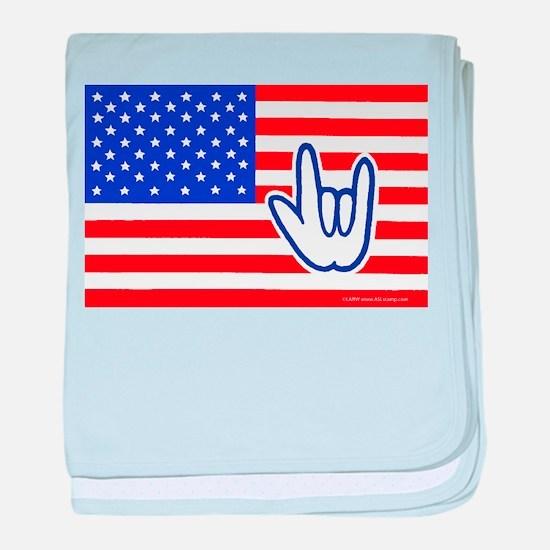 ILY Flag Infant Blanket