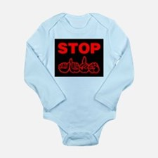 Stop AIDS Long Sleeve Infant Bodysuit