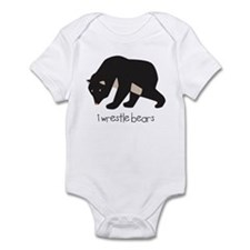I Wrestle Bears Infant Bodysuit