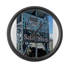 Ouch Safety Shoes Large Wall Clock