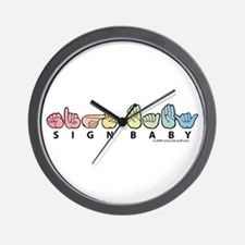 Captioned Sign Baby Wall Clock