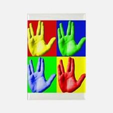 Vulcan Hand Rectangle Magnet