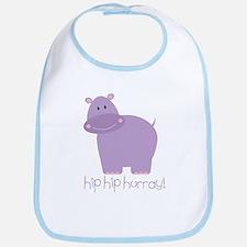 Hip Hip Hurray! Hippo Bib