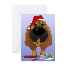 Bloodhound Christmas Greeting Cards (Pk of 20)
