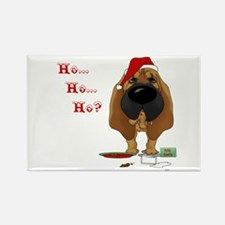 Bloodhound Santa's Cookies Rectangle Magnet