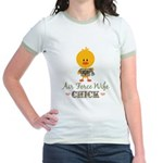 Proud Air Force Wife Chick Jr. Ringer T-Shirt