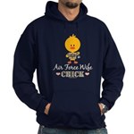 Proud Air Force Wife Chick Hoodie (dark)