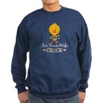 Proud Air Force Wife Chick Sweatshirt (dark)