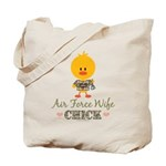 Proud Air Force Wife Chick Tote Bag