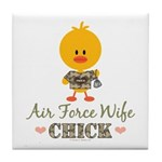 Proud Air Force Wife Chick Tile Coaster
