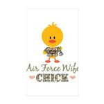 Proud Air Force Wife Chick Sticker (Rectangle 50 p