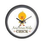 Proud Air Force Wife Chick Wall Clock