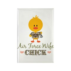 Proud Air Force Wife Chick Rectangle Magnet (10 pa