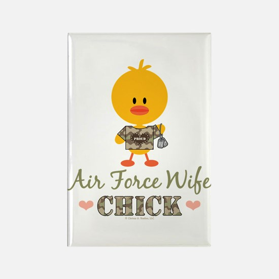 Proud Air Force Wife Chick Rectangle Magnet