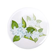 "jasmine Flowers artwork 3.5"" Button"