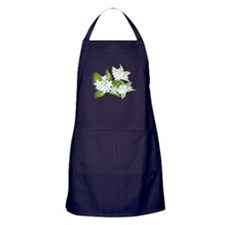 jasmine Flowers artwork Apron (dark)