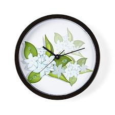 jasmine Flowers artwork Wall Clock