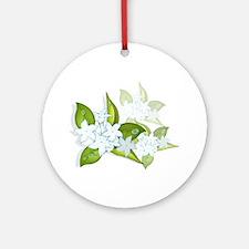 jasmine Flowers artwork Ornament (Round)