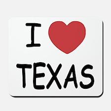 I heart Texas Mousepad