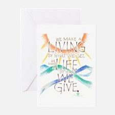 Life is what we Give Greeting Cards (Pk of 10)