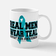 Real Men Wear Teal PCOS Mug